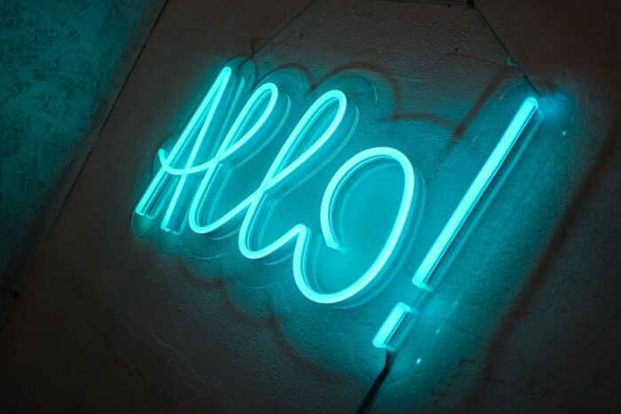 Allo! из RGB-неона