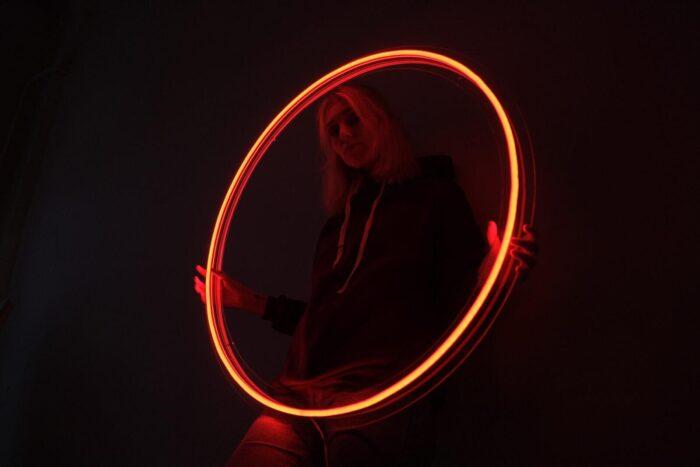 Круг из RGB-неона